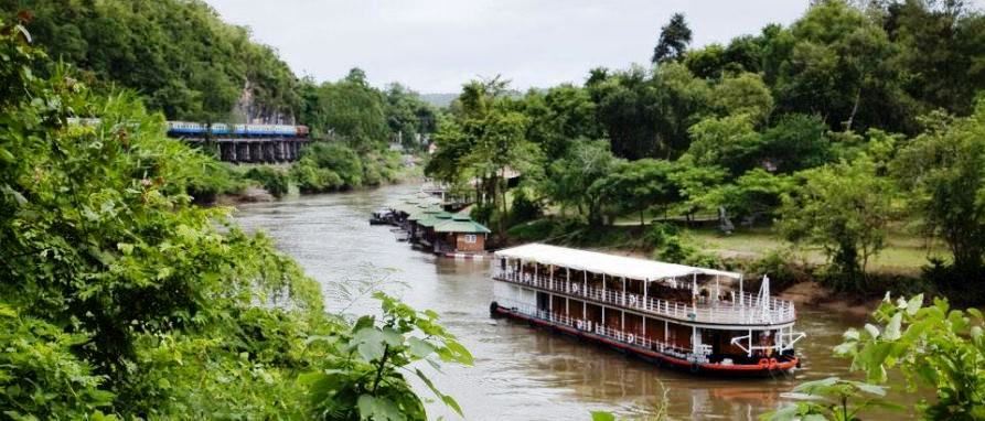 Rondreizen Thailand River Kwai cruise