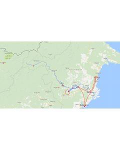 rondreis Borneo Kalimantan Mahakam rivier Orang Oetan route