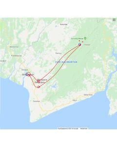 Rondreis Kalimantan Borneo Bamboe rafting en drijvende markt 4 dagen 3 nachten
