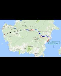 Cross Borneo Challenge 2018 - 18 dagen – 17 nachten route