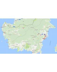Venture travels rondreis Borneo Kalimantan - Mahakam riviertocht 3 dagen route
