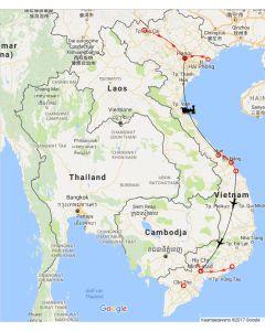 Rondreis Vietnam: Vietnam van noord naar zuid - hoogtepunten met verblijf aan het strand, route