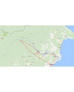 Rondreis Kalimantan, kaart 1