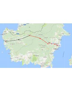 Rondreis Kalimantan: kaart 1