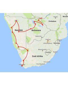 route Trucksafari van Kaapstad naar Vic Falls