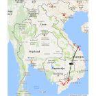 ondreis Vietnam: Vietnam van zuid naar centraal - van de Mekong delta naar Hoi An, routekaart