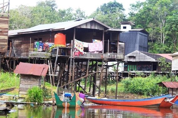 Motortocht Borneo, Mahakam rivier