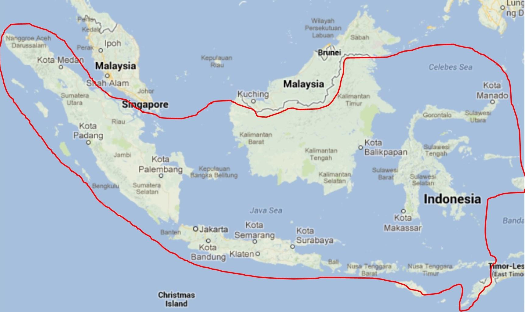 kaart Indonesie