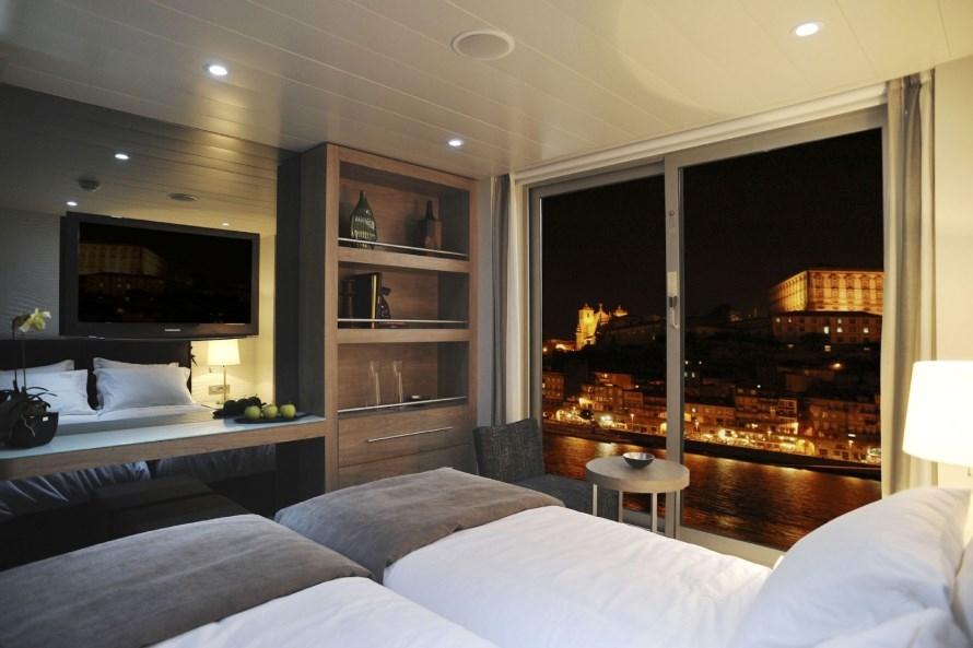 MS Douro Spirit Boven en middel dek cabine met frans balkon