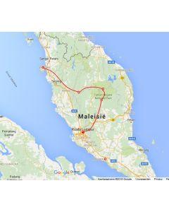 Venture travels rondreis Malesie westkust 7D_6N route